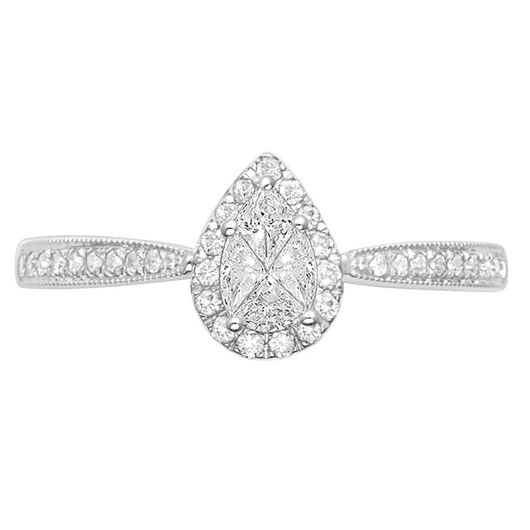 Love Cut 18ct White Gold 0.40ct Ring - Product number 4827791