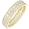 18ct Yellow Gold 1.50ct Diamond Double Row Eternity Ring - Product number 4829700