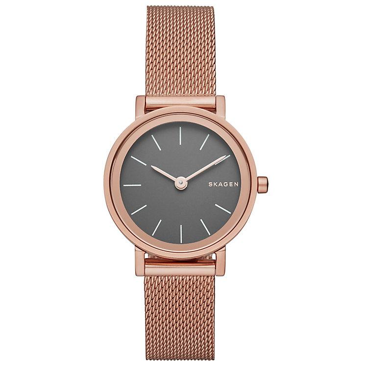 Skagen Ladies' Rose Gold Tone Bracelet Watch - Product number 4830458