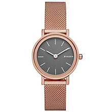 Skagen Ladies' Rose Gold Tone Bracelet Watch - Product number 4830458