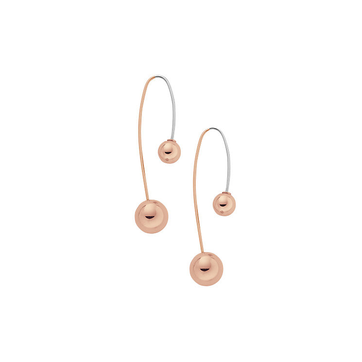Skagen Rose Gold Tone Drop Earrings - Product number 4830709