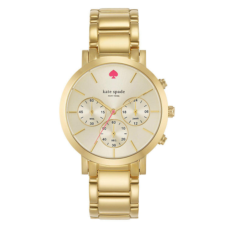 Kate Spade Gramercy Grand Ladies' Gold Tone Bracelet Watch - Product number 4831543