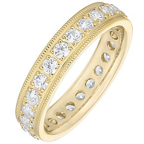 18ct Yellow Gold 1.00ct Diamond Baguette Cut Eternity Ring - Product number 4831594
