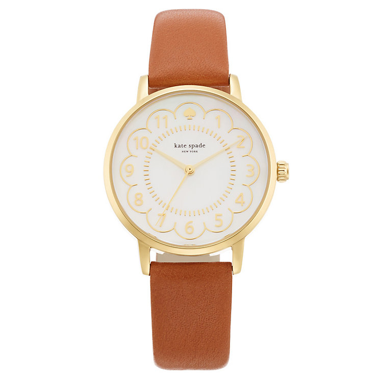 Kate Spade Metro Ladies' Gold Tone Strap Watch - Product number 4832353