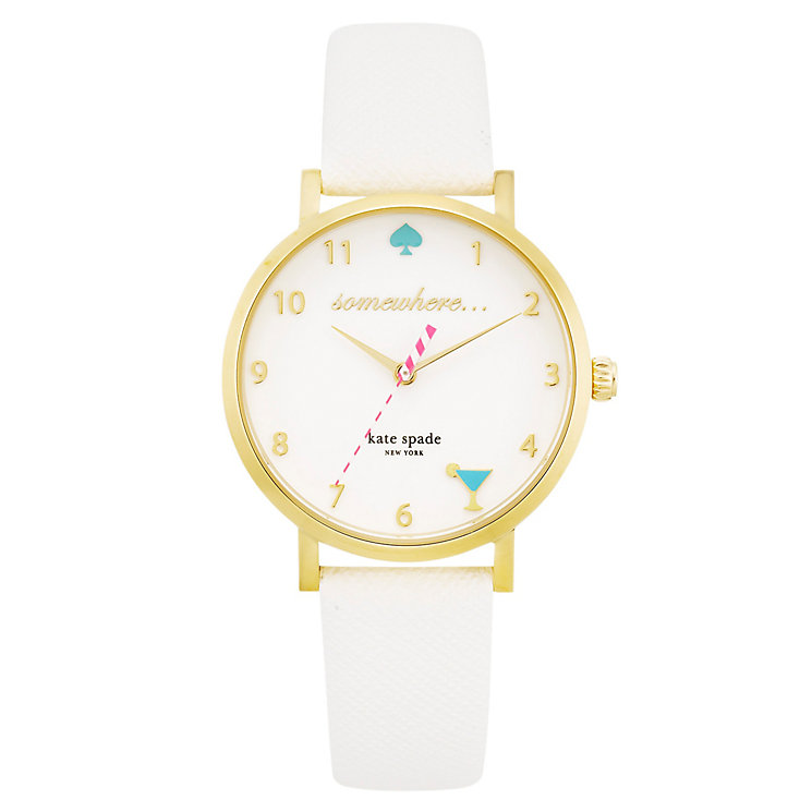 Kate Spade Metro Ladies' Gold Tone Strap Watch - Product number 4832728