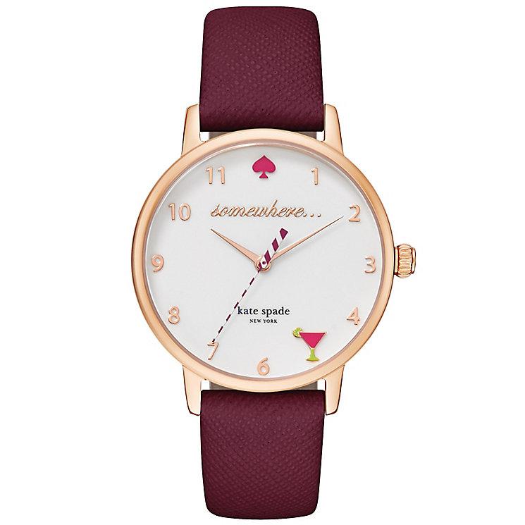 Kate Spade Metro Ladies' Rose Gold Tone Strap Watch - Product number 4832817