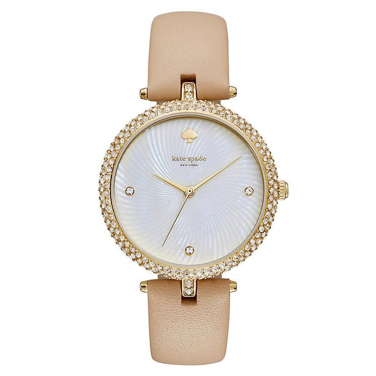 Kate Spade Eldridge Ladies' Gold Tone Stone Set Strap Watch - Product number 4833007