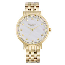Kate Spade Ladies' Gold Tone Stone Set Bracelet Watch - Product number 4833031