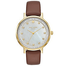 Kate Spade Ladies' Gold Tone Stone Set Bracelet Watch - Product number 4833066
