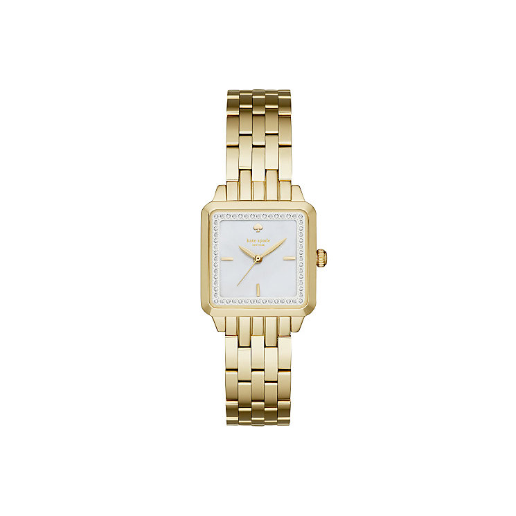 Kate Spade Ladies' Gold Tone Stone Set Strap Watch - Product number 4833082