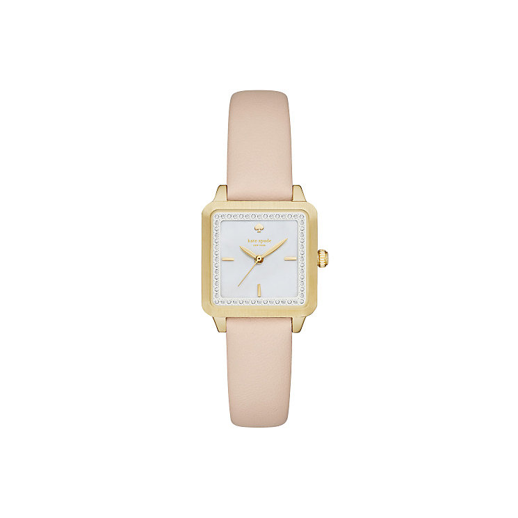 Kate Spade Ladies' Gold Tone Stone Set Strap Watch - Product number 4833090