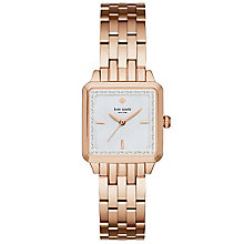Kate Spade Ladies' Rose Gold Tone Stone Set Bracelet Watch - Product number 4833104