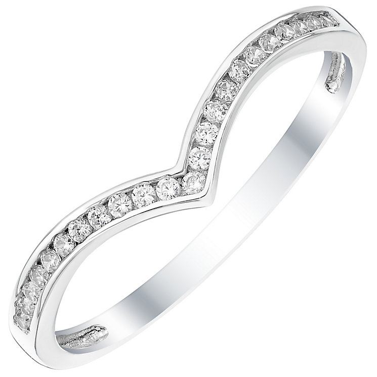 9ct White Gold Cubic Zirconia Ring - Product number 4833112