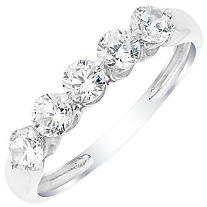 9ct White Gold Cubic Zirconia Ring - Product number 4833449