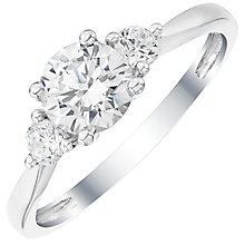9ct White Gold cubic Zirconia Three Stone Ring - Product number 4833716