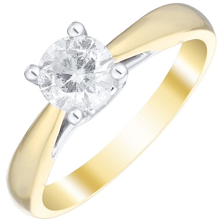 9ct Yellow Gold 0.66 ct Diamond Solitaire Ring - Product number 4833988