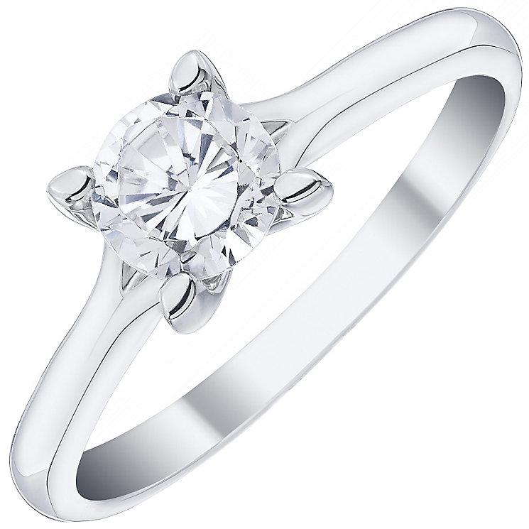 Platinum 0.75ct Diamond Solitaire Ring - Product number 4834127