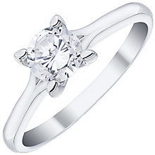 Platinum 0.75ct Diamond Solitaire Ring - Product number 4834127