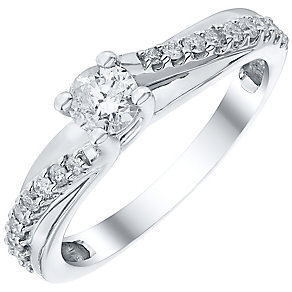 18ct 0.50ct Diamond Solitaire Twist Ring - Product number 4834461