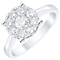 9ct 0.75ct Diamond Solitaire Cluster Ring - Product number 4834607