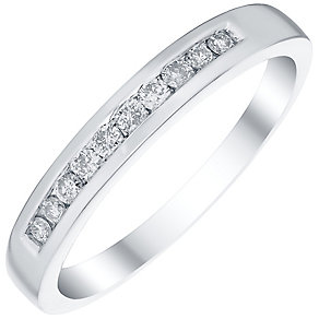 Platinum 0.15ct Diamond 10 Stone Eternity Ring - Product number 4834739
