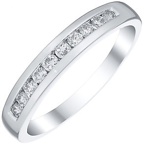 Platinum 0.25ct Diamond 10 Stone Eternity Ring - Product number 4834879