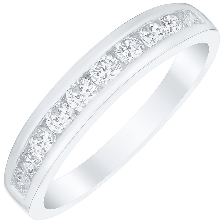 Platinum 0.50ct Diamond 10 Stone Eternity Ring - Product number 4835174