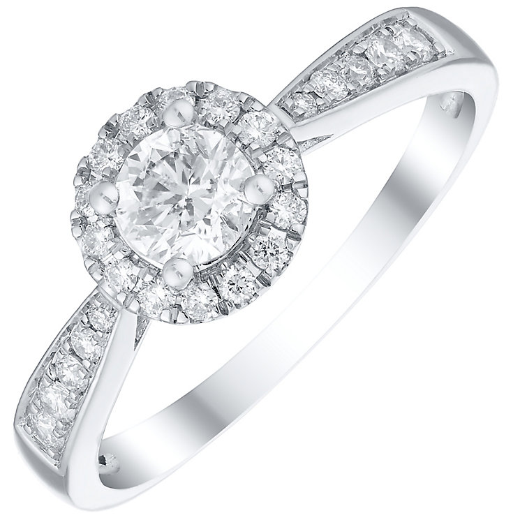 Platinum 0.50ct Diamond Round Halo Ring - Product number 4836073