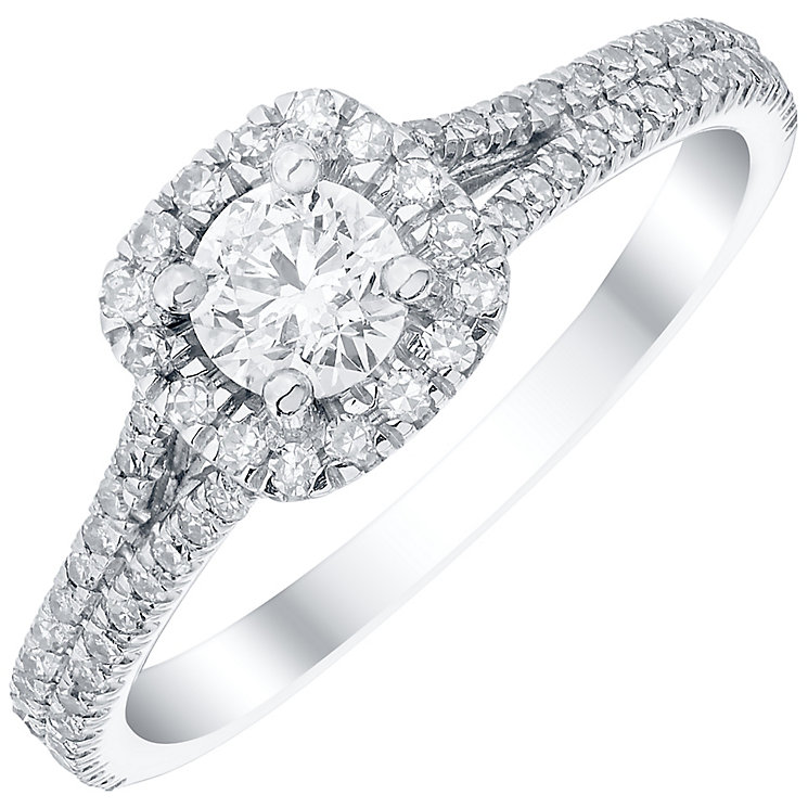 Platinum 0.66ct Diamond Cushion Cut Ring - Product number 4836235