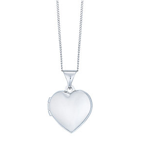 9ct White Gold Mini Locket - Product number 4836367