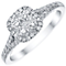 Platinum 0.50ct Diamond Cluster Ring - Product number 4836375
