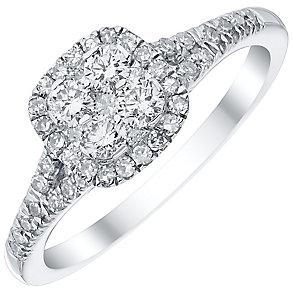 Platinum 0.50ct Diamond Cluster Ring - Product number 4836375