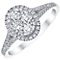 Platinum 0.50ct Diamond Oval Cut Ring - Product number 4836510