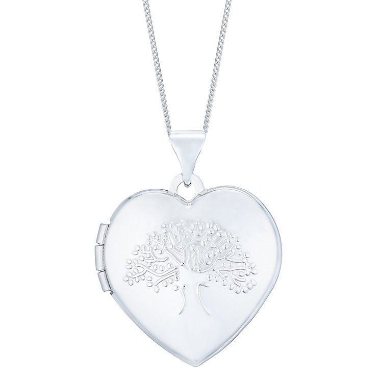 9ct White Gold Tree of Life Design Locket - Product number 4836987