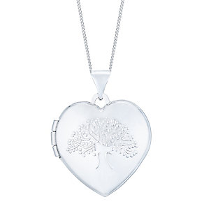 9ct White Gold Tree Locket - Product number 4836987