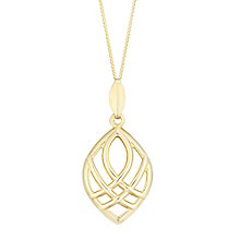 9ct Yellow Gold Deco Drop Pendant - Product number 4837029
