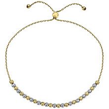 9ct Yellow White Gold Sparkle Bead Bracelet - Product number 4837177