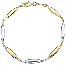 9ct Yellow and White Gold Drop Bracelet - Product number 4837185