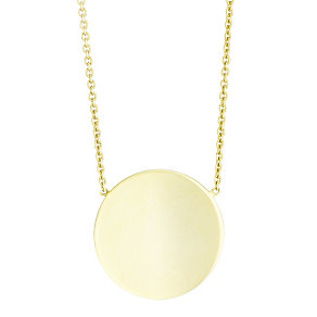 9ct Yellow Gold Circle Disc Necklet - Product number 4837193
