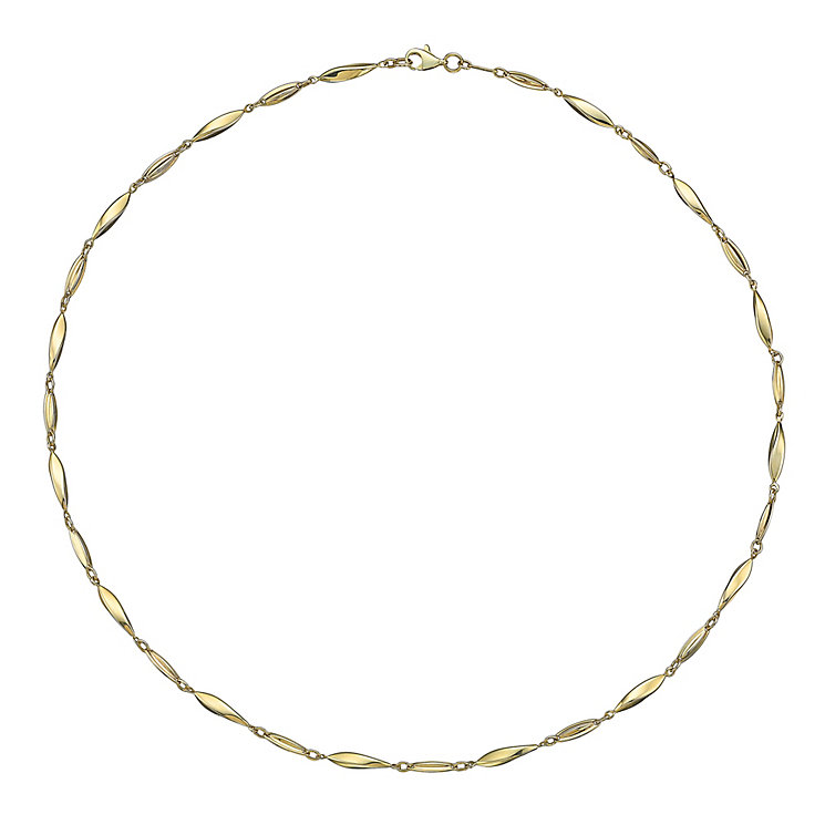 9ct Yellow Gold Texture Bead Necklet - Product number 4837207