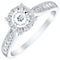 9ct White Gold 0.33ct Diamond Illusion Set Cluster Ring - Product number 4837355
