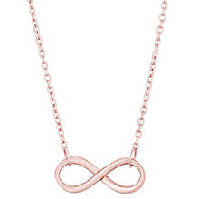 9ct Rose Gold Infinty Necklet - Product number 4837649