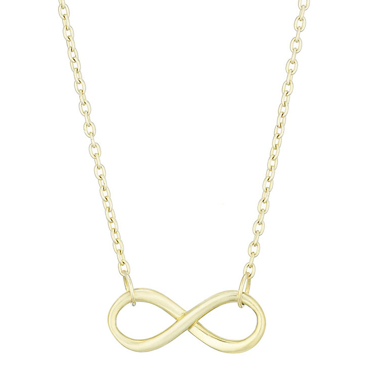 9ct Yellow Gold Infinity Necklet - Product number 4837657