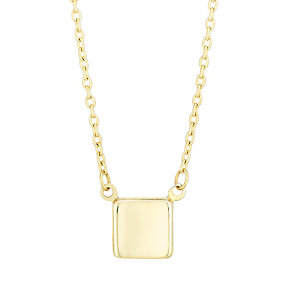 9ct Yellow Gold Square Charm Necklet - Product number 4837673