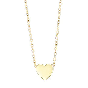 9ct Yellow Gold Heart Charm Necklet - Product number 4837681