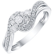 9ct White Gold 0.33ct Diamond Ring - Product number 4838602
