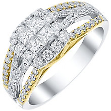 18ct Yellow and White Gold 1.00ct Diamond Cluster Ring - Product number 4838963
