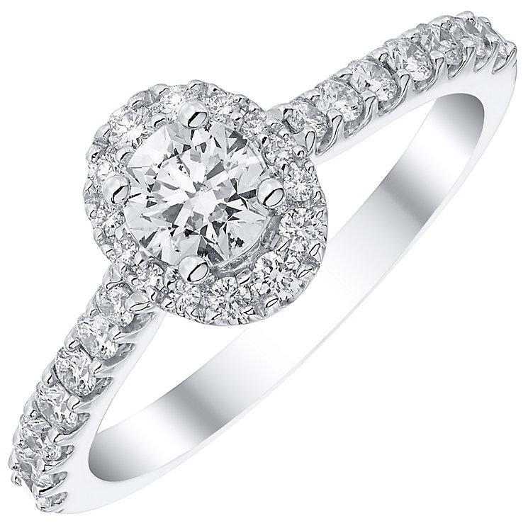 Platinum 0.75ct Diamond Round Cut Halo Ring - Product number 4840240