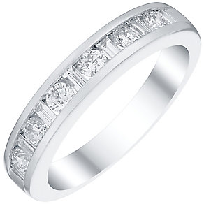 Platinum 0.50ct Diamond Round Cut  Eternity Ring - Product number 4840658