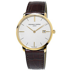 Frederique Constant Men's Brown Leather Strap Watch - Product number 4841778